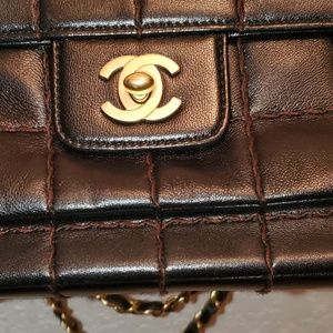 CHANEL Bags - Sold Sold  Chanel Chocolate Bar Quilted Flap Bag